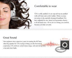 Best Cheap Bluetooth Headphone replica latest AliExpress BLuedio T2S 3