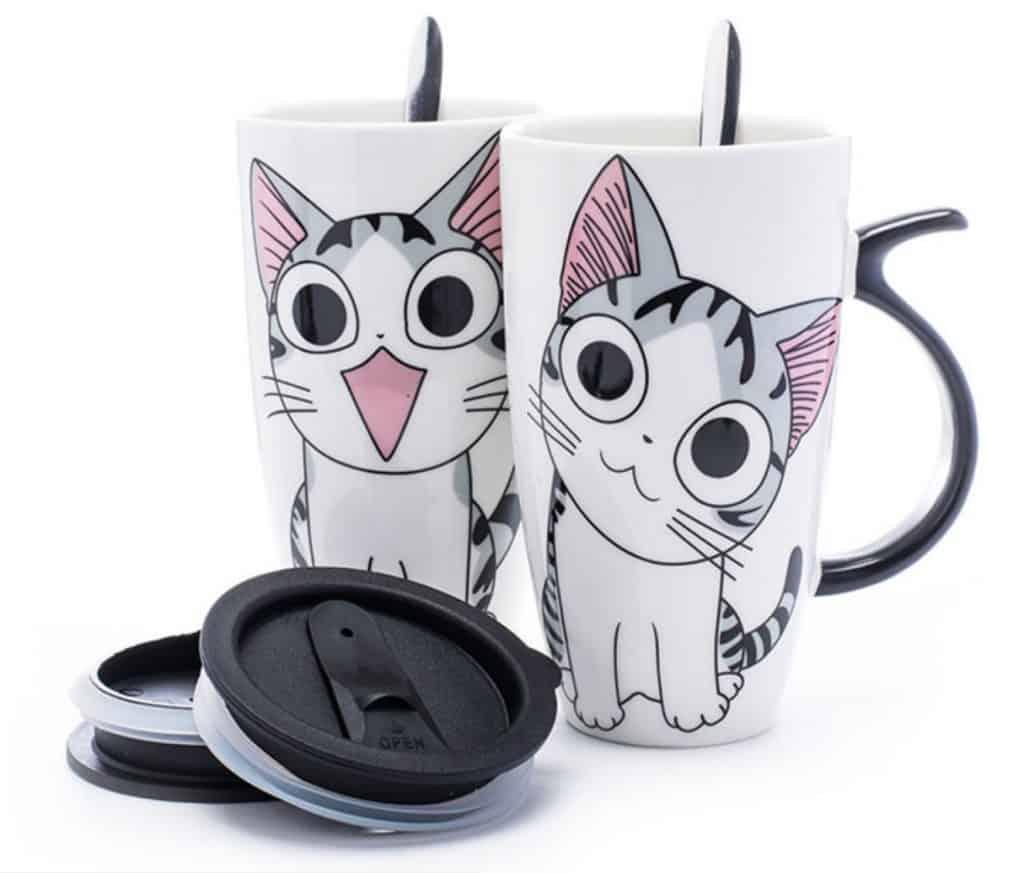 Best Cheap Gift AliExpress Cute Couple Mug Love Adorable Cat Kitty Hot Cold Cup Wamer 1