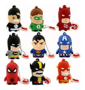 Best Gift AliExpress Avengers Best Gift superhero avenger/Superman/Batman/Spider Man pendrive Usb 2.0 Usb flash drive 8GB 16GB 32GB 64GB cartoon pen drive Superhero usb thumbdrive 1