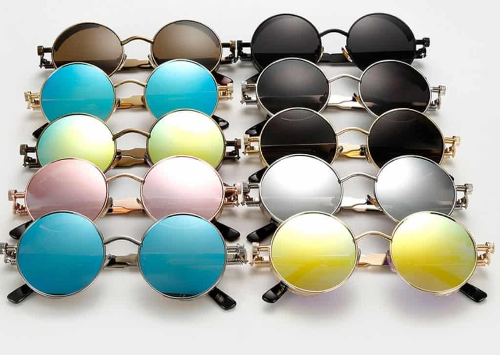 Metal Round Steampunk Sunglasses Men Women Fashion Glasses Brand Designer Retro Frame Vintage Sunglasses High Quality UV400