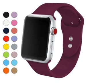 smartwatch replica Apple Watch AliExpress apple watch clone Soft Silicone Replacement Sport Band For 38mm Apple Watch Series1 2 42mm Wrist Bracelet Strap For iWatch Sports Edition
