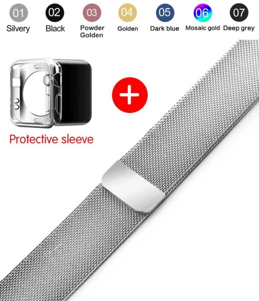 smartwatch replica Milanese Loop Band for Apple watch 42mm 38mm Link Bracelet Strap Magnetic adjustable buckle with adapter for iwatch Series 3 / 2 AliExpress apple watch clone Apple Watch Strap 2