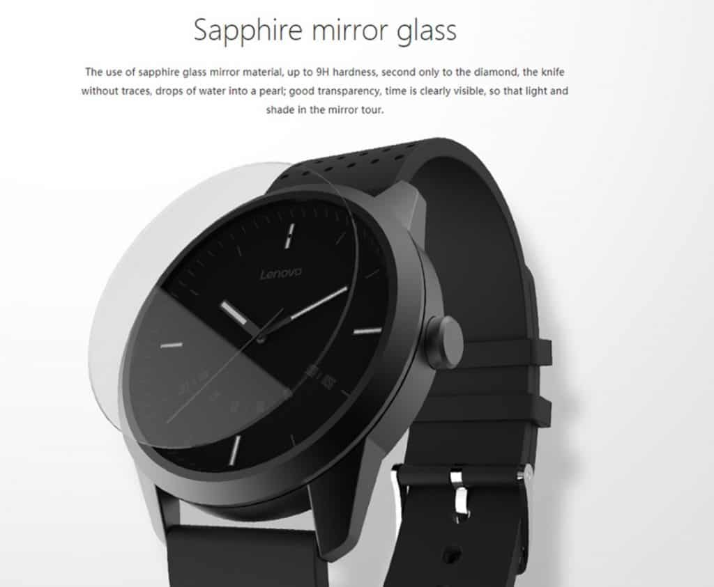 smartwatch replica apple watch clone Lenovo Watch 1 Sapphire Mirror Glass Stainless Fingerprint