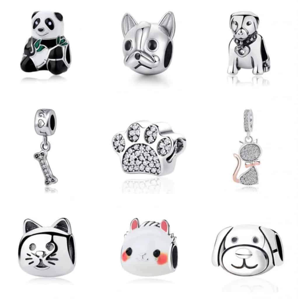 Pandora Charm Replica AliExpress Sam Panda Cute pendants animal charms 1