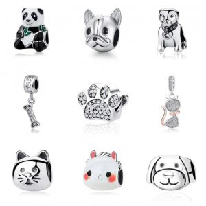 Pandora Charm Replica AliExpress Sam Panda Cute pendants animal charms 1