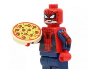 AliExpress Lego Replica Lego Alternative Lego Clone MaCong Store1 Marvel Spiderman Pizza Infinity War SuperHero Has to eat1