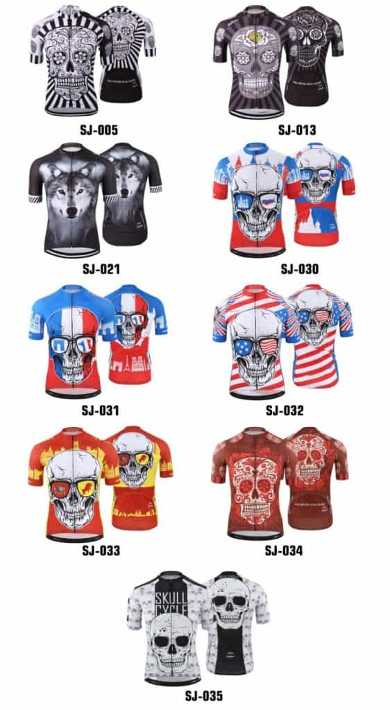 Cycling Jersey Replica Lookalike Clone Sportswear AliExpress Cheap Skull Colorful Death Black Wolf Jersey4