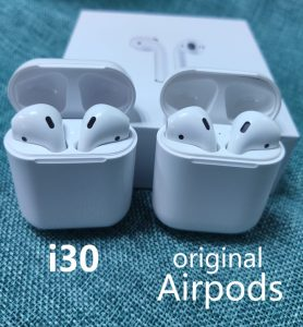 fake airpod replica aliexpress airpod clone airpod i30tws Exact Size 1