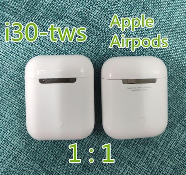 fake airpod replica aliexpress airpod clone airpod i30tws Exact Size 4