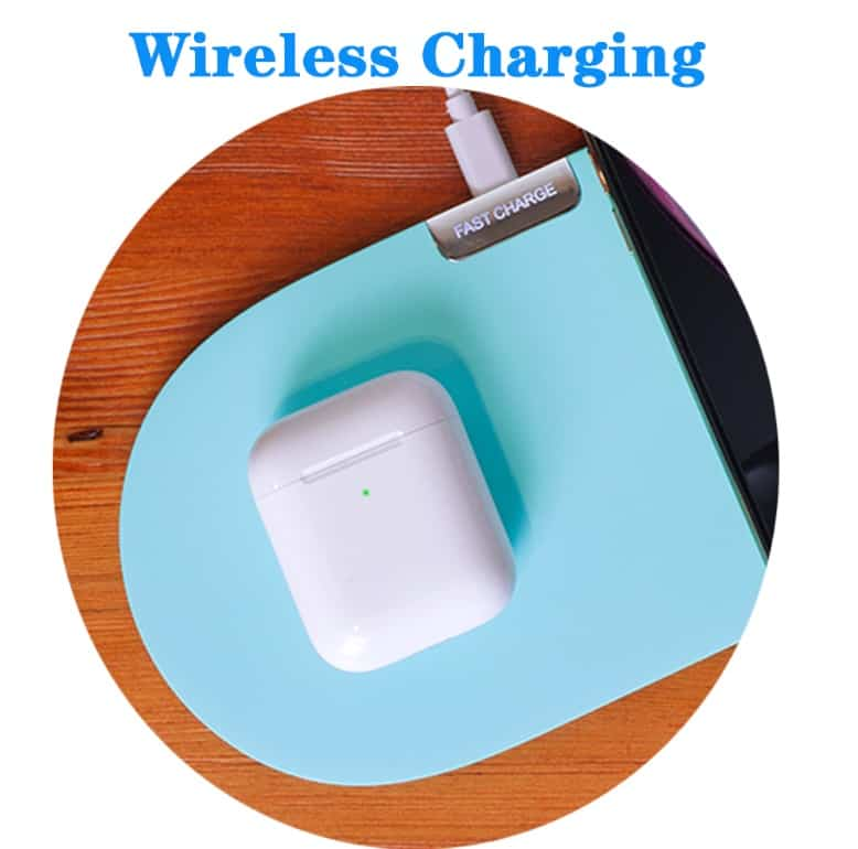 Cheap fake apple airpod replica aliexpress airpod clone airpod Wireless Charging i300 1 wireless charging