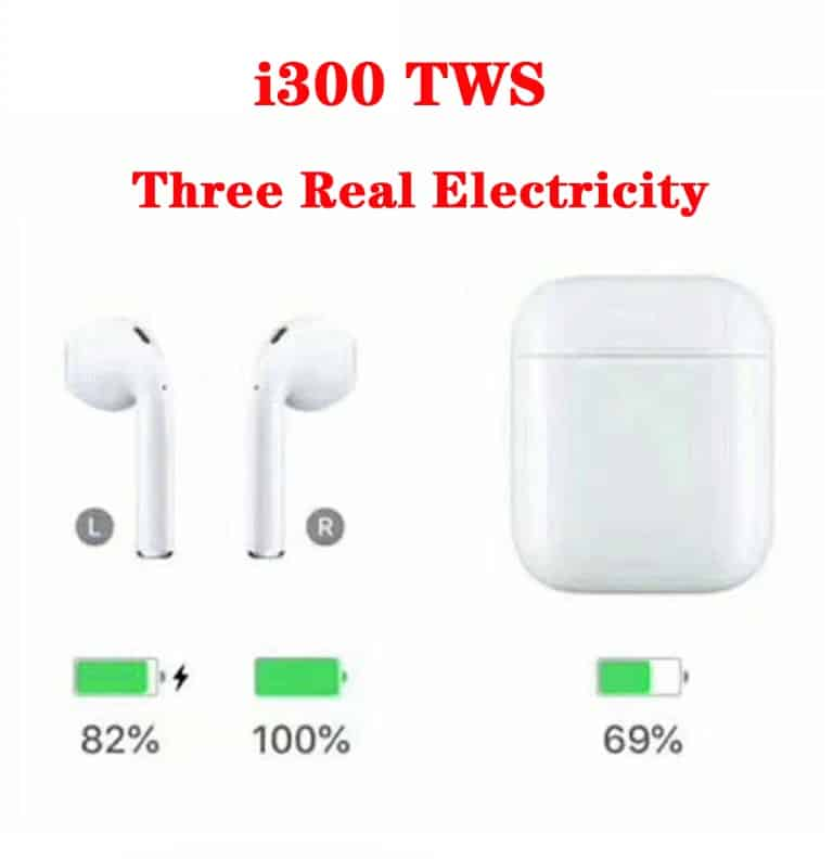 Cheap fake apple airpod replica aliexpress airpod clone airpod Power Pop Upi300 3 battery levels