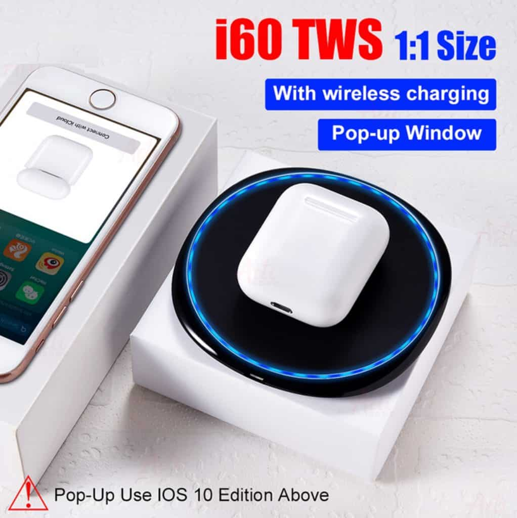 fake apple airpod replica aliexpress airpod clone airpod i60 1to1 3