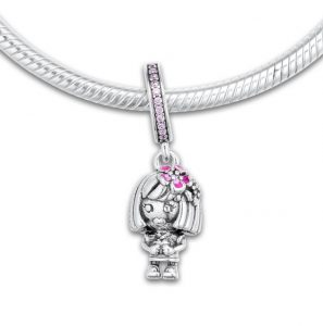 baa9bd0d2 Chinese Flower Girl Silver Charm – Get them here. Pandora Charm Replica  AliExpress Pendant ...