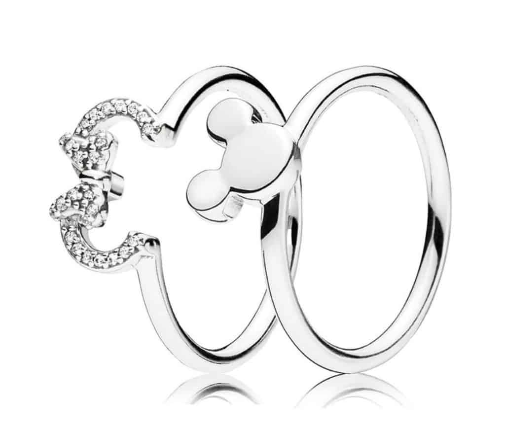 Pandora Charm Replica Bracelet Pendant Jewelry 925 Sterling Silver AliExpress Mickey Minnie Couple Rings