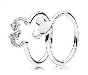 Pandora Charm Replica Bracelet Pendant Jewelry 925 Sterling Silver AliExpress Mickey Minnie Couple Rings