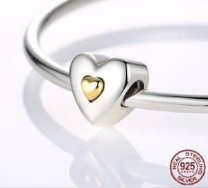 Pandora Charm Replica Bracelet Pendant Jewelry 925 Sterling Silver AliExpress Wostu 2 Heart shape