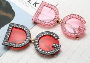 fake sunglasses replica shades aviator glasses DG Dolce Gabbana knockoff Rhinestone Summer Collection 2