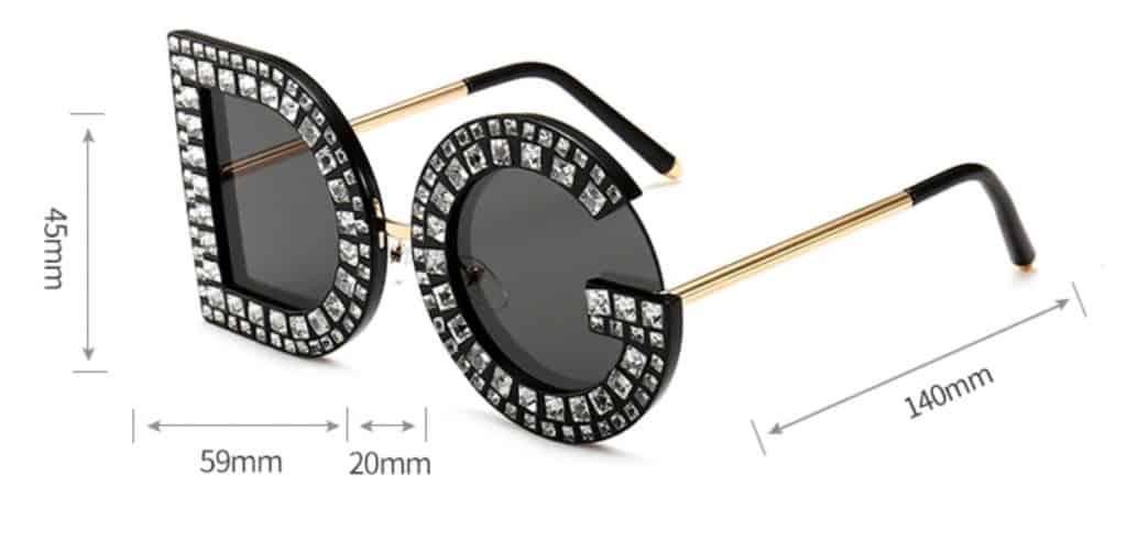 fake sunglasses replica shades aviator glasses DG Dolce Gabbana knockoff Rhinestone Summer Specs 3