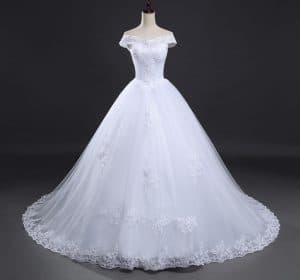 AliExpress Cheap Designer Wedding Dresses Bridal Gown Vintage Long Train 1