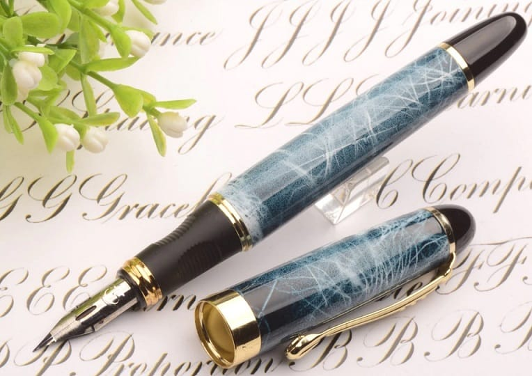 AliExpress MontBlanc Fountain Pen Replica Clone Alternative Cheap Floral body G nib4