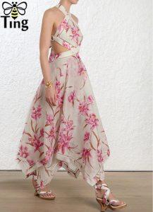 AliExpress Elegant Party Dresses Summer Dresses for Woman 3 Designer Runway Sexy Halter Cross Backless Maxi Dress