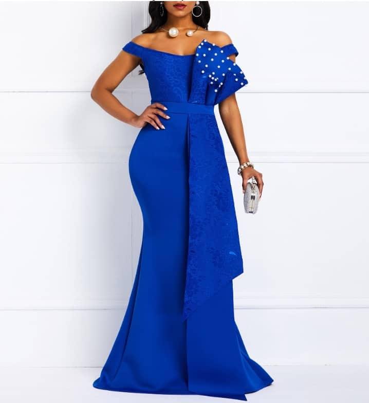 Top 10 AliExpress Elegant Party Dresses Summer Dresses for Woman 4 Off Shoulder Long Dress Sexy Mermaid Slash Neck
