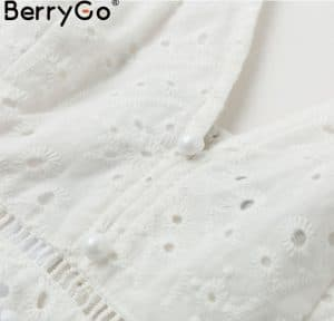 AliExpress Elegant Party Dresses Summer Dresses for Woman 2 berrygo White pearls sexy evening dress