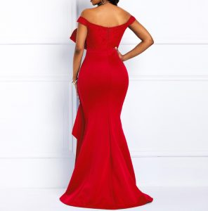 AliExpress Elegant Party Dresses Summer Dresses for Woman 4 Off Shoulder Long Dress Sexy Mermaid Slash Neck