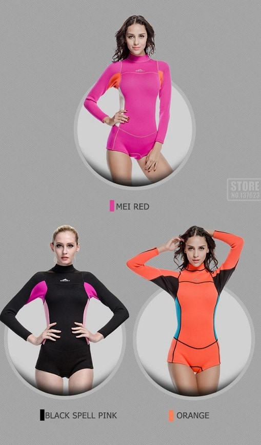 AliExpress Wetsuit for Women Men Onepiece Kite Surfing Snorkeling Swimwear Swimsuit Scuba Diving One-Pieces Suit Beach SBART 2mm 5 colors
