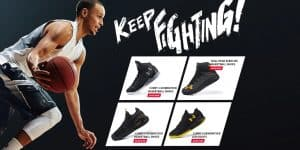 Fashion Brand Replica Sports Shoes Cheap Branded Copy Sneakers Fake AliExpress China Wholesale Phantom HOVR Black and Gold Colors Under Armour Keep Fighting1