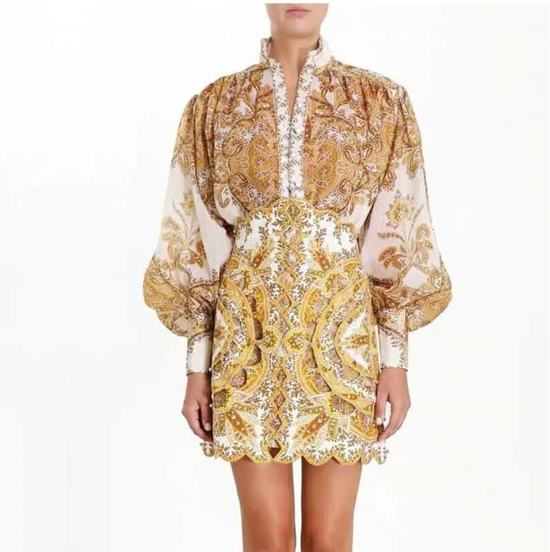 AliExpress Women Fashion Cheap Designer Runway replica Clothings Sexy Goddess 2 Vintage Branded Floral Designs Lace