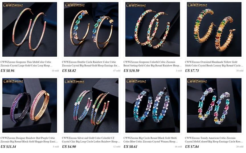 Cheap Cartier Jewelry Replica Bracelet Pendant Jewelry 925 Sterling Silver AliExpress CwwZircons 3 earrings gem